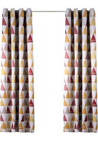 Lüttenhütt Verdunkelungsvorhang »Dreieck«, bedruckte Kindergardine kaufen