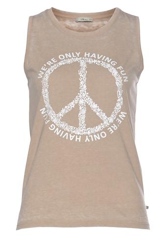 LTB Shirttop »SILOJE«, bedruckt mit Wording und Peace-Symbol kaufen