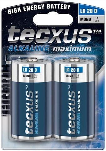 tecxus Batterie »LR20/D (Mono)«, Tecxus Alkaline maximum kaufen