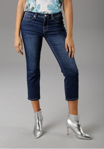 Aniston SELECTED Straight-Jeans, in verkürzter cropped Länge kaufen