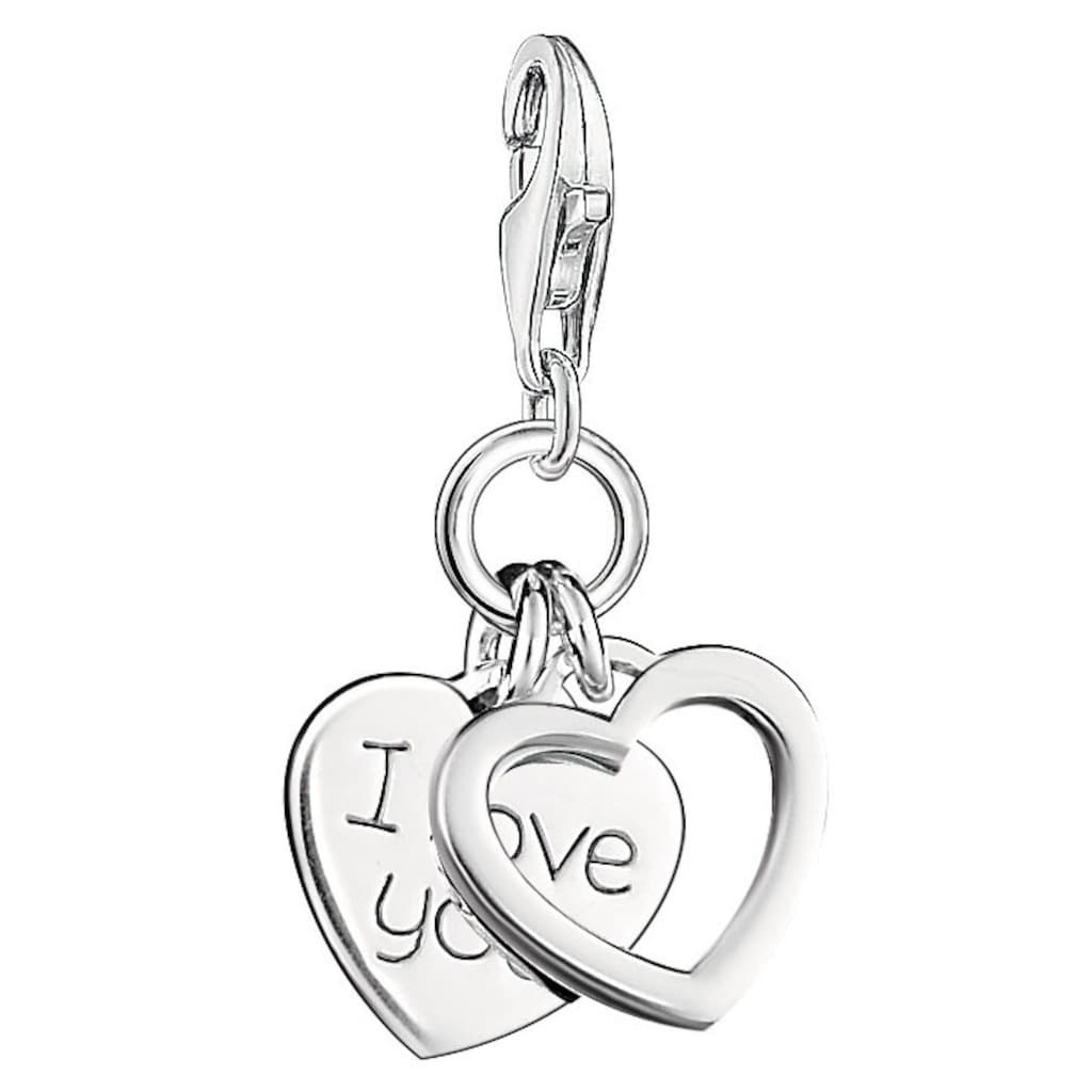THOMAS SABO Charm Herz »Herzen I LOVE YOU, 0852-001-12«