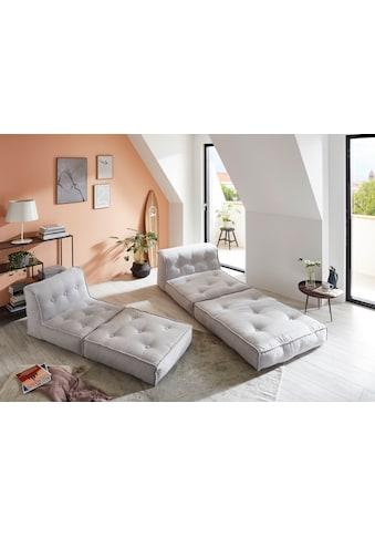 my home Sessel »Caspar«, Loungesessel in 2 Größen, mit Schlaffunktion und Pouf-Funktion. kaufen