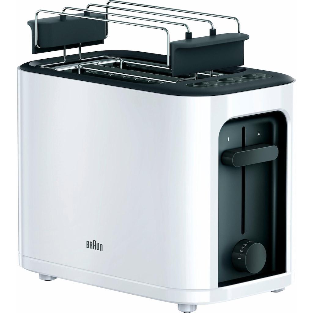 Braun Toaster »HT 3010 WH«, 2 kurze Schlitze, für 2 Scheiben, 1000 W