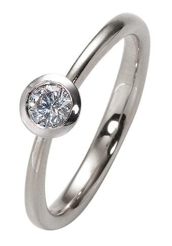 """Firetti Diamantring »Verlobungsring """"Solitär""""«, mit Brillant in Zargenfassung kaufen"""