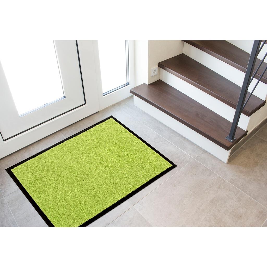 Andiamo Fußmatte »Verdi«, rechteckig, 6 mm Höhe, Schmutzfangmatte, Innen- und überdachten Außenbereich geeignet, waschbar mit rutschhemmender Rückseite