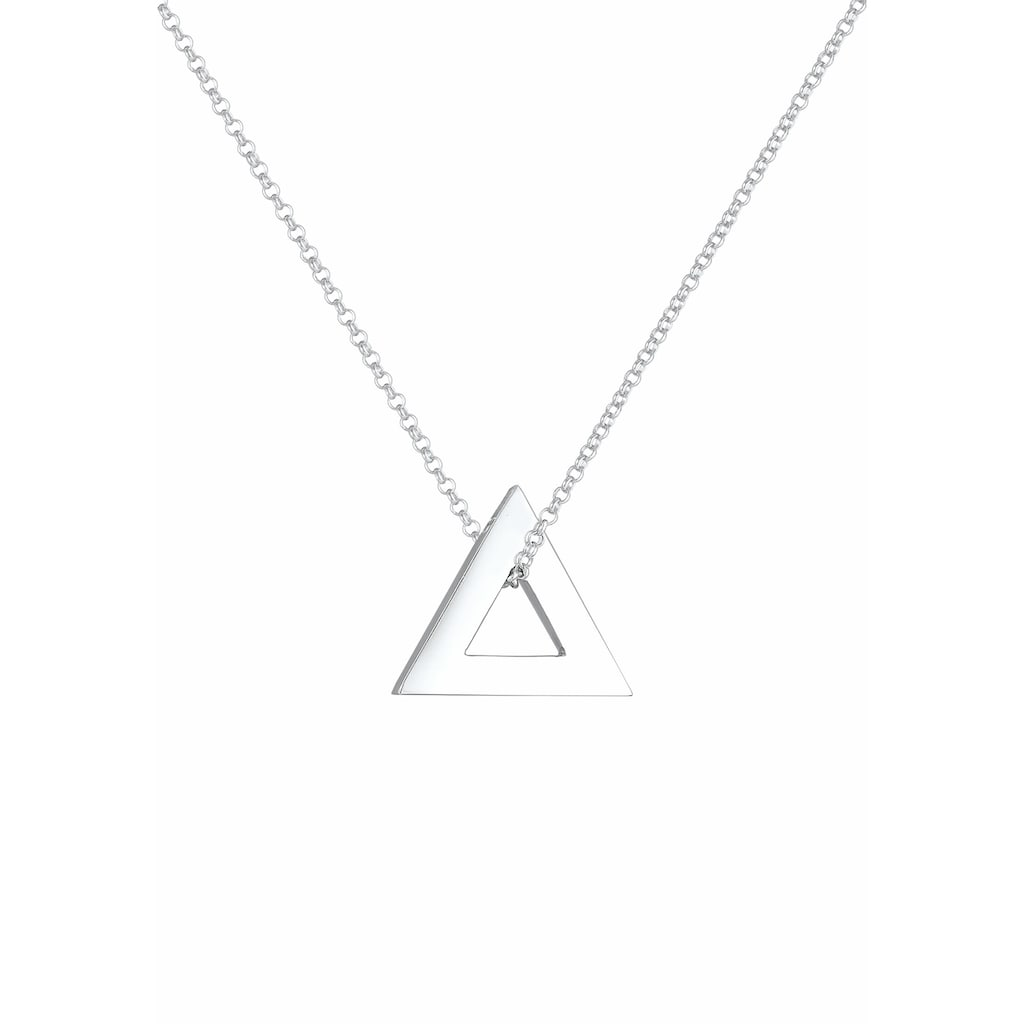 Kuzzoi Silberkette »Herren Erbskette Dreieck Triangle 925 Silber«