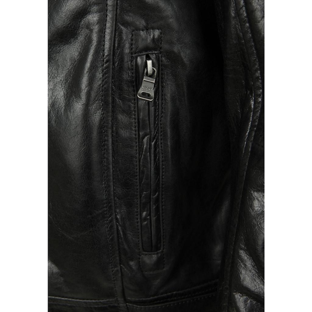 Gipsy Lederjacke »BIKO«, Pflanzlich gegerbtes Leder