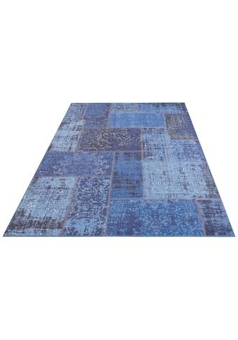 DELAVITA Teppich »Santini«, rechteckig, 5 mm Höhe, Pachwork-Optik, Wohnzimmer kaufen