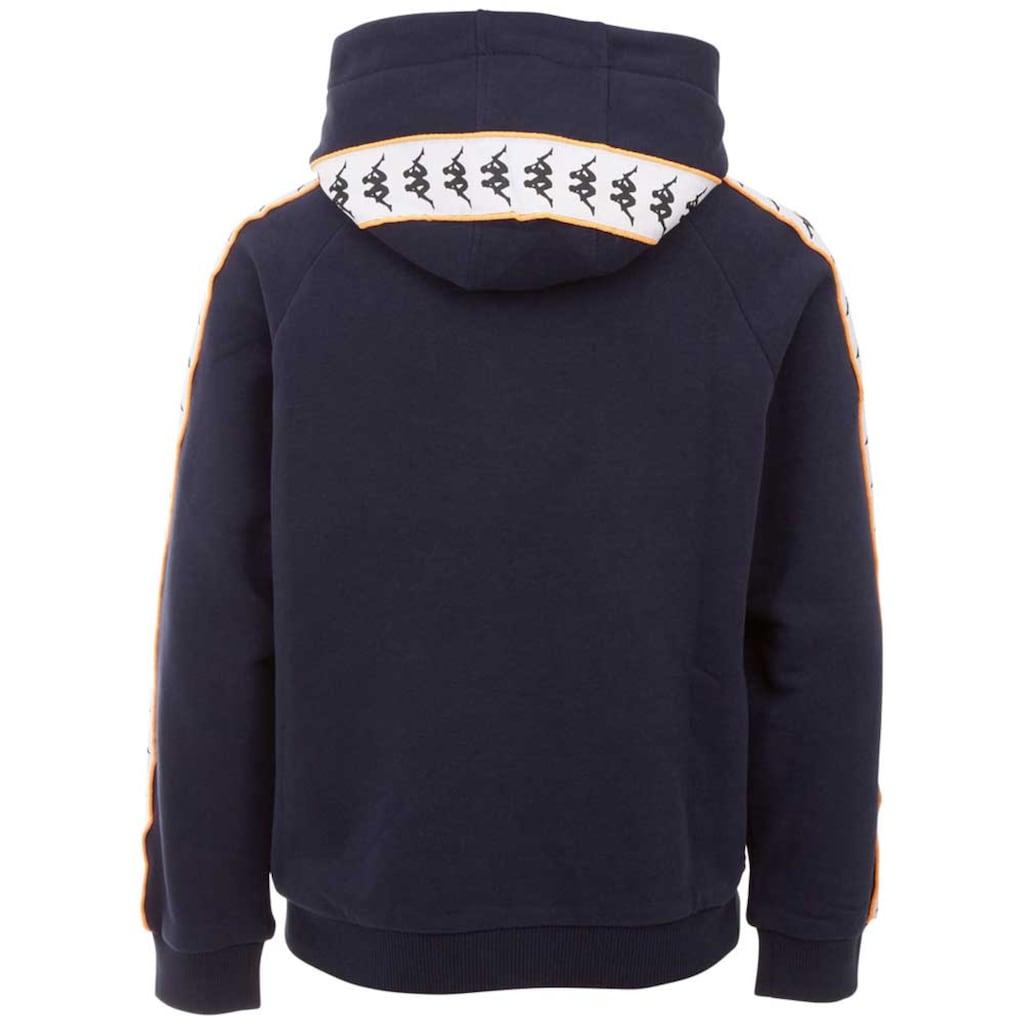 Kappa Kapuzensweatshirt »AUTHENTIC HARRO KIDS«, Logoband mit kontrastfarbenem Piping