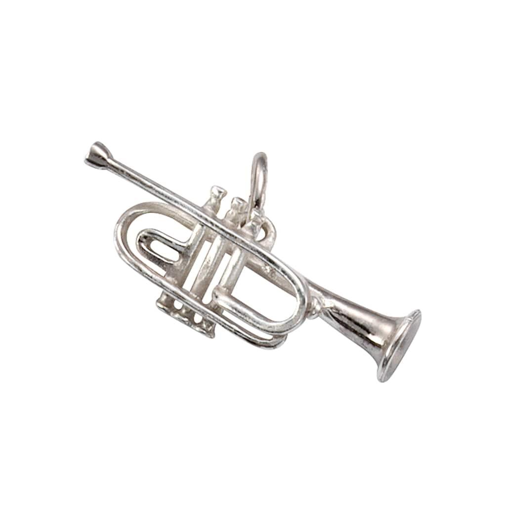 Firetti Kettenanhänger »Trompete, glanzvoll, rhodiniert und massiv«