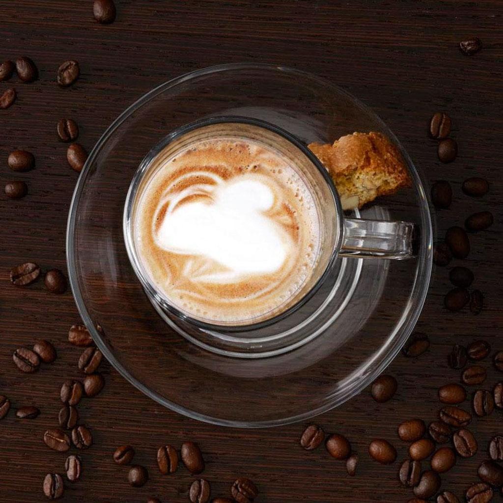 LEONARDO Latte-Macchiato-Glas »SENSO«, (Set, 6 tlg.), Hitzebeständig und widerstandsfähig, 6-teilig