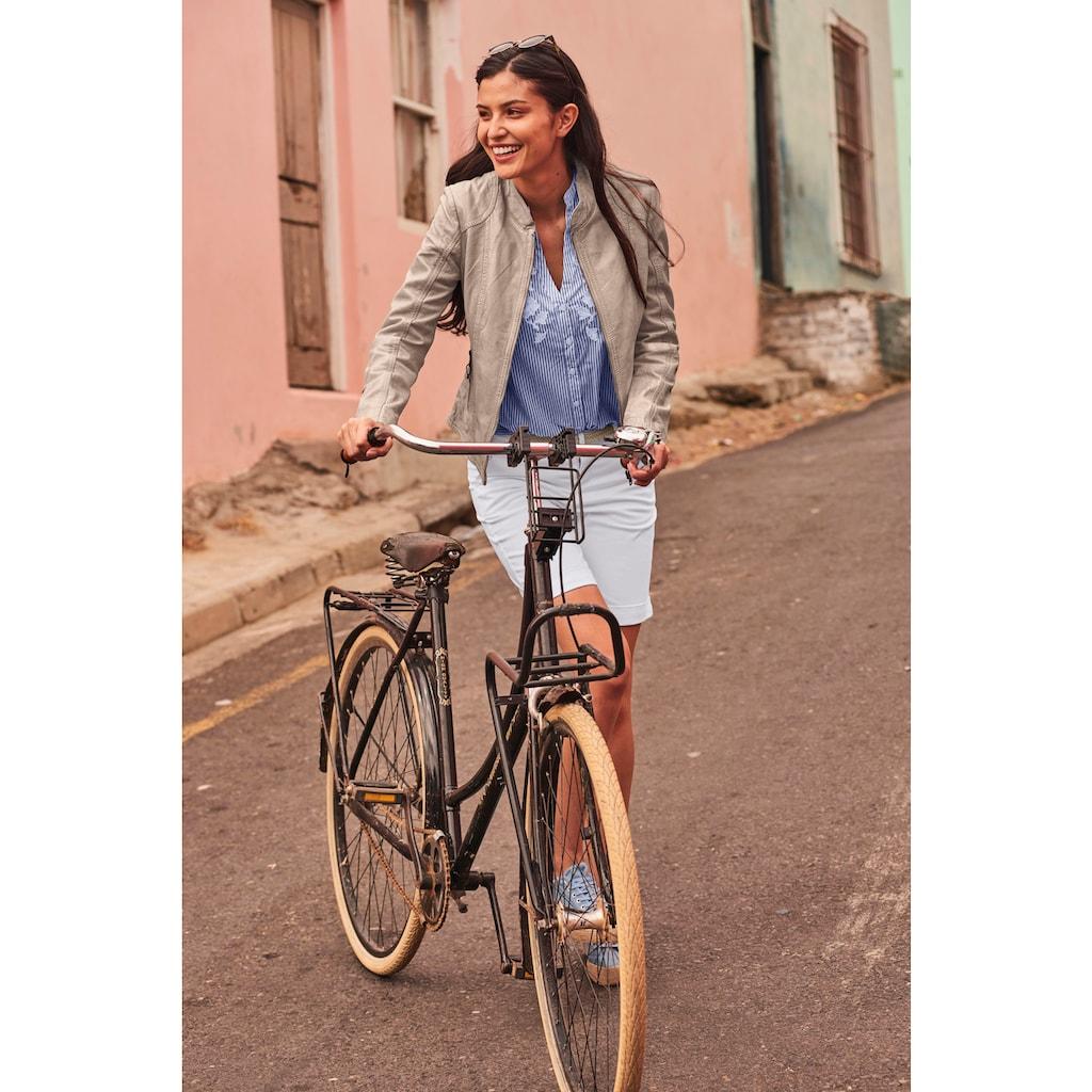 ALPENBLITZ Lederjacke »Athen«, im sportlichen Biker-Stil aus hochwertigem Lammnappaleder