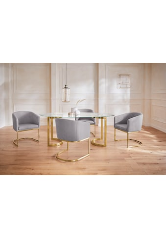 Guido Maria Kretschmer Home&Living Esstisch »Treelessy«, Gestell Edelstahl, 1 cm starke Tischplatte aus Glas kaufen