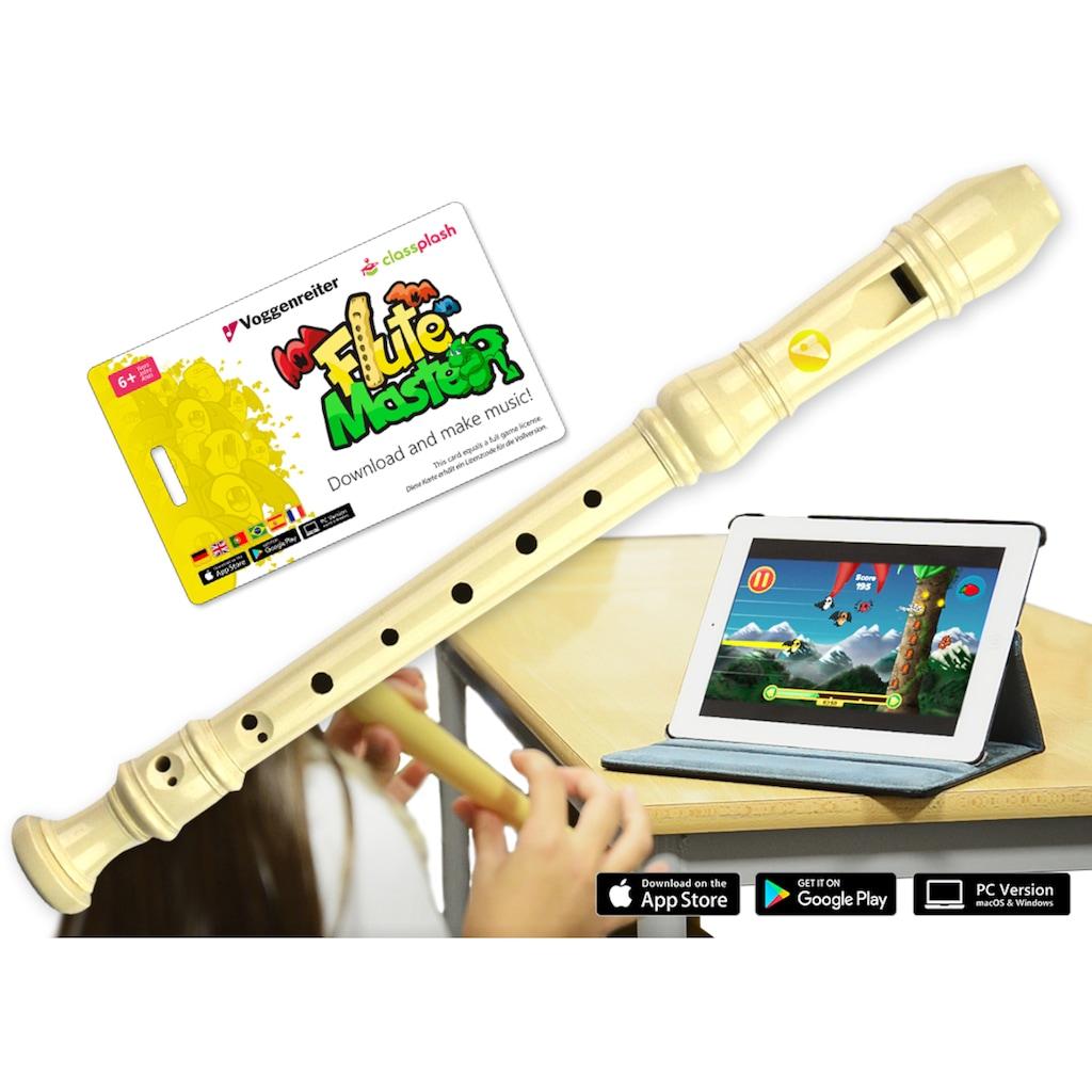 Voggenreiter Blockflöte »Flute Master (App) mit Blockflöte, barocke Griffweise«, Sopran, C-Dur, Barock
