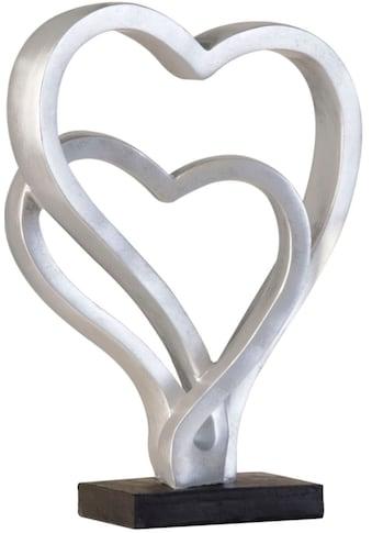 GILDE Dekoobjekt »Skulptur Hearts, antik silberfarben«, Höhe 30 cm, Herz-Form,... kaufen