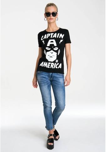 LOGOSHIRT T-Shirt »Captain America – Portrait«, mit lizenziertem Originaldesign kaufen