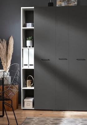 moderner Aktenschrank in Grau