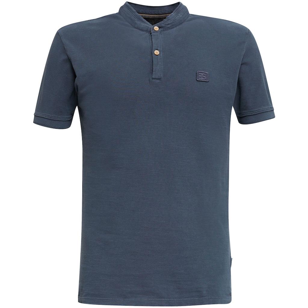 Esprit T-Shirt, mit kleinem Stehkragen