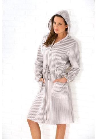 Cawö Damenbademantel »Borkum«, mit feinen Streifen kaufen