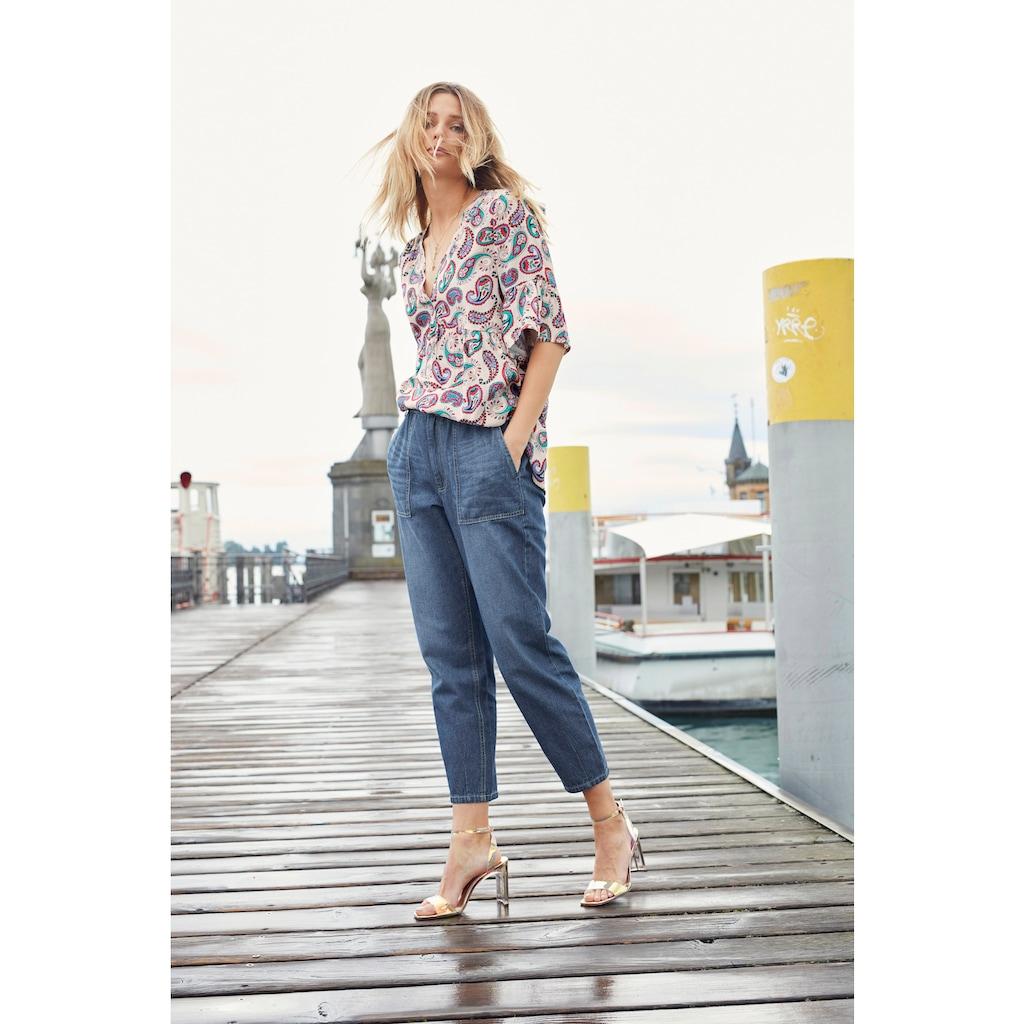 Aniston CASUAL Loose-fit-Jeans, high waist mit bequemen Gummizugbund, Paperbag-Jeans