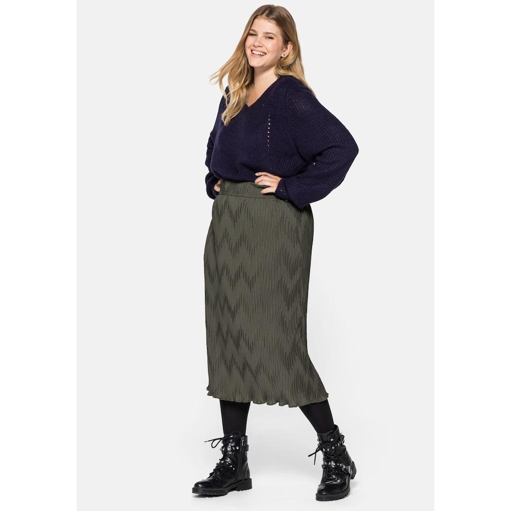 Sheego V-Ausschnitt-Pullover, mit V-Ausschnitt