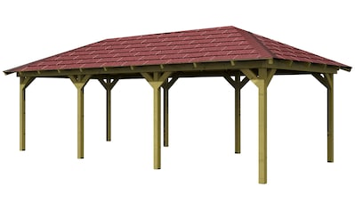 KARIBU Holzpavillon »Mailand 1«, BxT: 345x485 cm kaufen