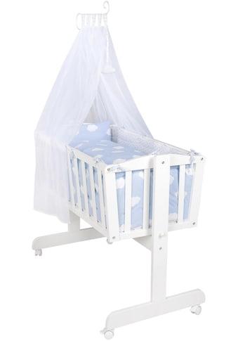 roba® Stubenbett »Komplettwiege, Kleine Wolke blau«, mit Komplettausstattung kaufen