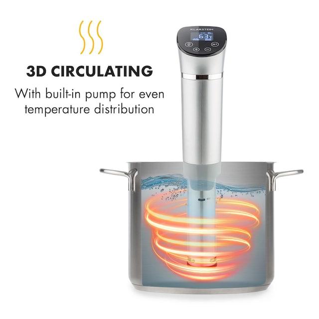 Klarstein 1300W 3D Circulating 0-95 °C IPX7 Time Souis Vide, Kochen »SVD3«