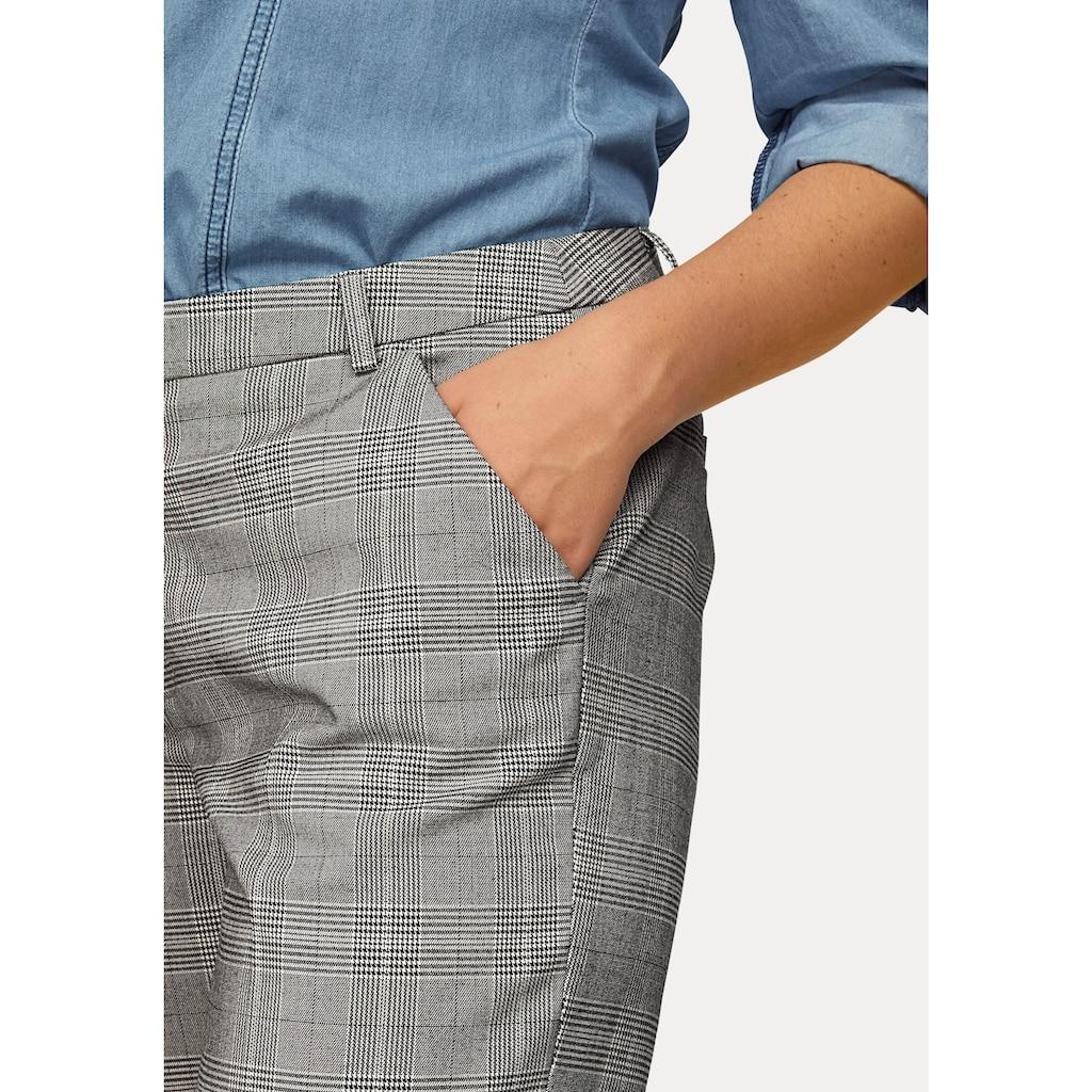 Boysen's Bügelfaltenhose, mit feinem Karo-Muster aus Glencheck