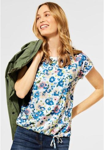 Cecil V-Shirt, aus softem Materialmix kaufen