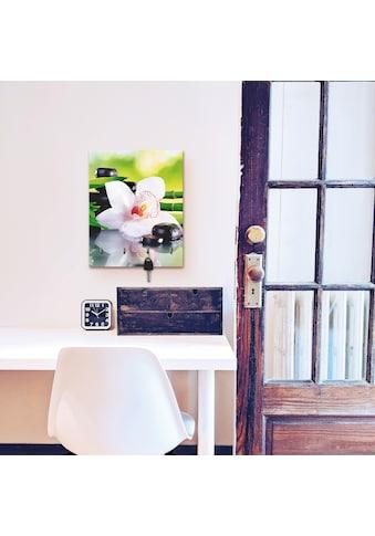 Artland Schlüsselbrett »Spa Steine Bambus Zweige Orchidee«, aus Holz mit 4... kaufen