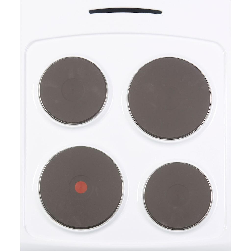 Hanseatic Platten-Standherd »89317732«, 89317732, Simple Steam Reinigungsfunktion
