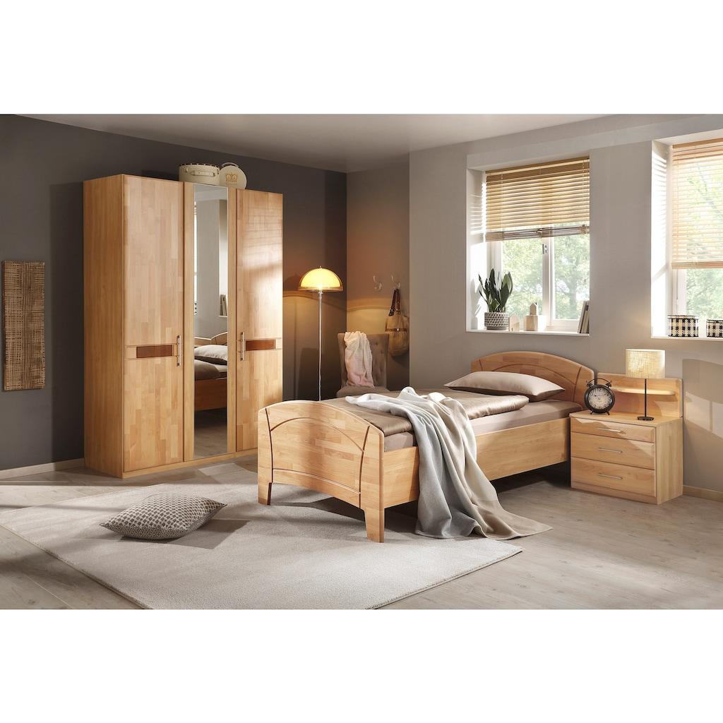 rauch BLACK Schlafzimmer-Set »Sarah«, (Set, 4 St.), mit Bett 100/200 cm und 2-oder 3-trg Schrank
