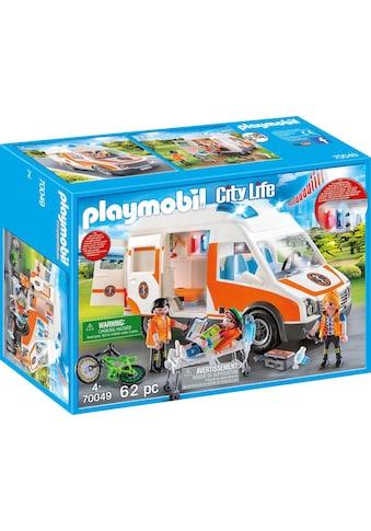 """Playmobil® Konstruktions - Spielset """"Rettungswagen mit Licht und Sound (70049), City Life"""", Kunststoff kaufen"""