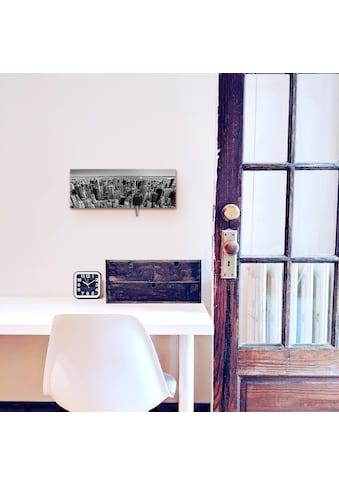 Artland Schlüsselbrett »Luftbild von Manhattan New York City USA«, aus Holz mit 4... kaufen