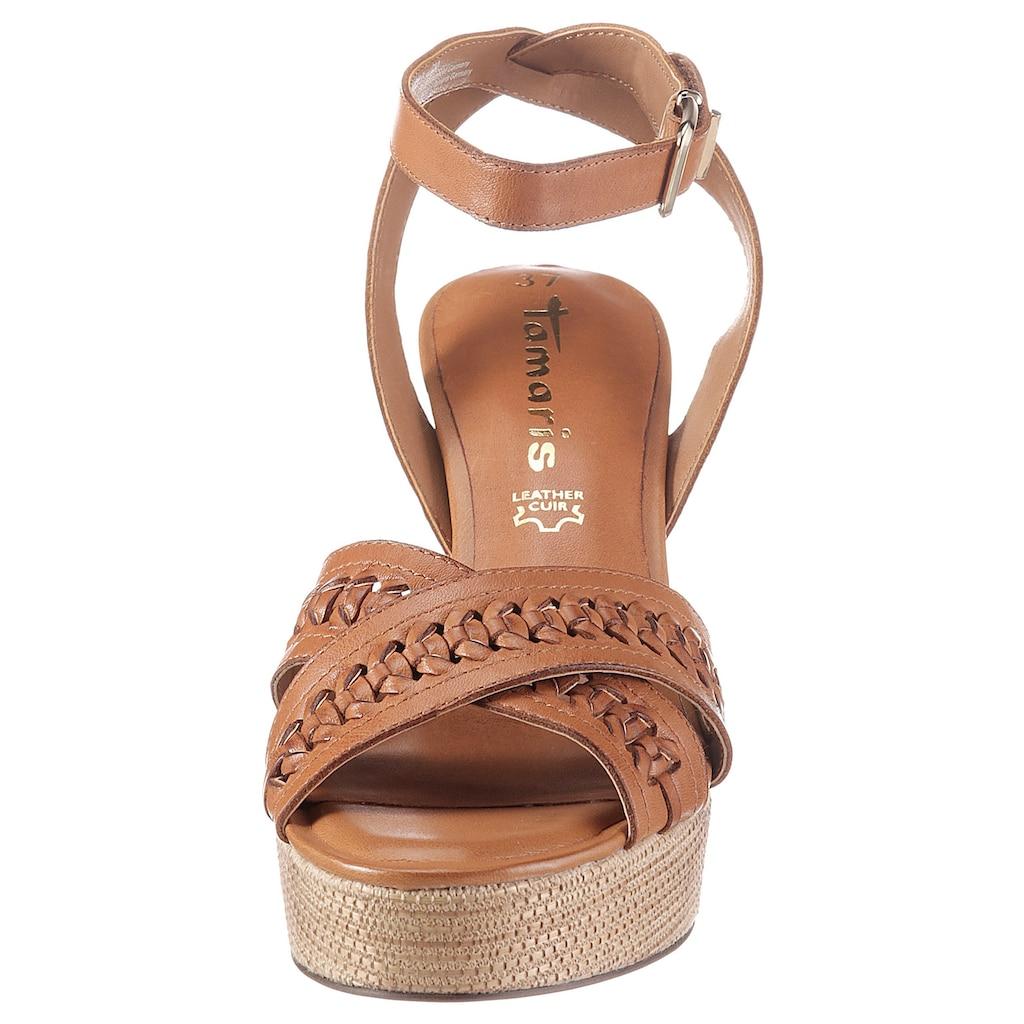 Tamaris High-Heel-Sandalette »BEET«, mit eleganter Kreuzbandage