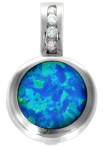 Firetti Kettenanhänger »Opal, glanzvoll, rhodiniert und massiv«, mit Opal und Zirkonia kaufen