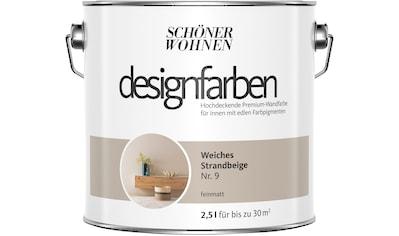 SCHÖNER WOHNEN-Kollektion Wandfarbe »Designfarben«, weiches Strandbeige Nr. 9,... kaufen