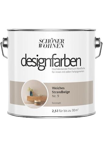 SCHÖNER WOHNEN-Kollektion Wandfarbe »Designfarben«, weiches Strandbeige Nr. 9, feinmatt 2,5 l kaufen