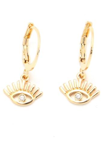 J.Jayz Paar Creolen »Auge«, mit Glassteinen kaufen