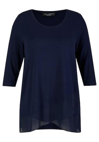 VIA APPIA DUE 3/4-Arm-Shirt, mit zarten Volants kaufen