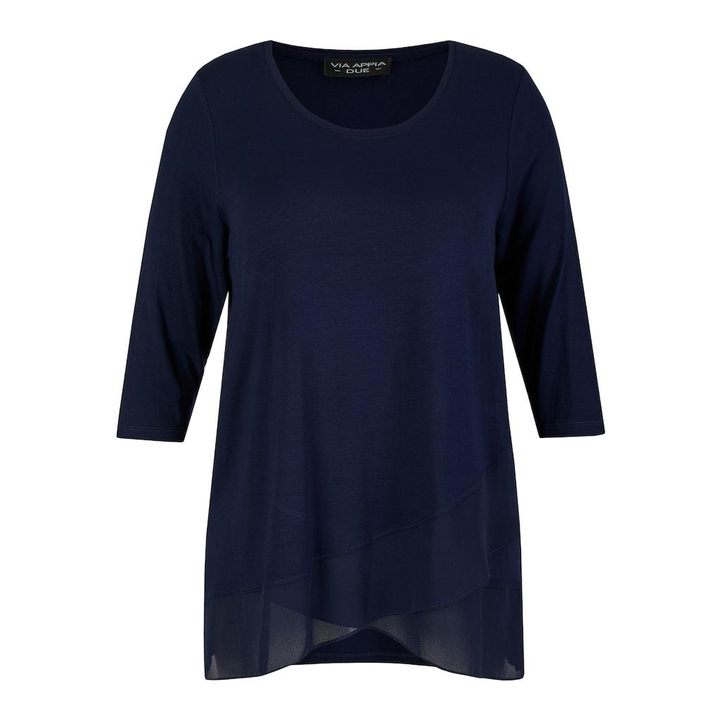 VIA APPIA DUE 3/4-Arm-Shirt, mit zarten Volants
