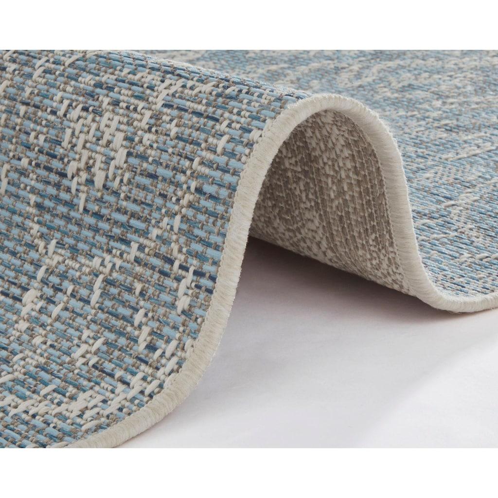 bougari Teppich »Choy«, rechteckig, 4 mm Höhe, In- und Outdoor geeignet, Flachgewebe, Wohnzimmer