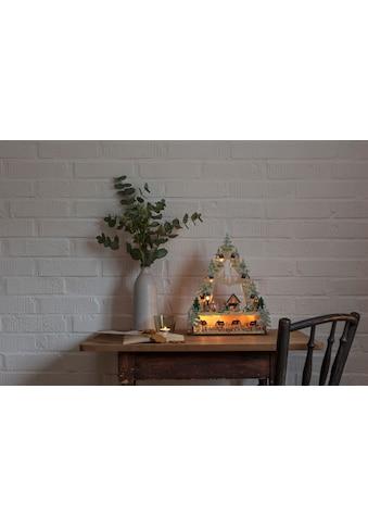 KONSTSMIDE LED Holzpyramide, Dorf kaufen