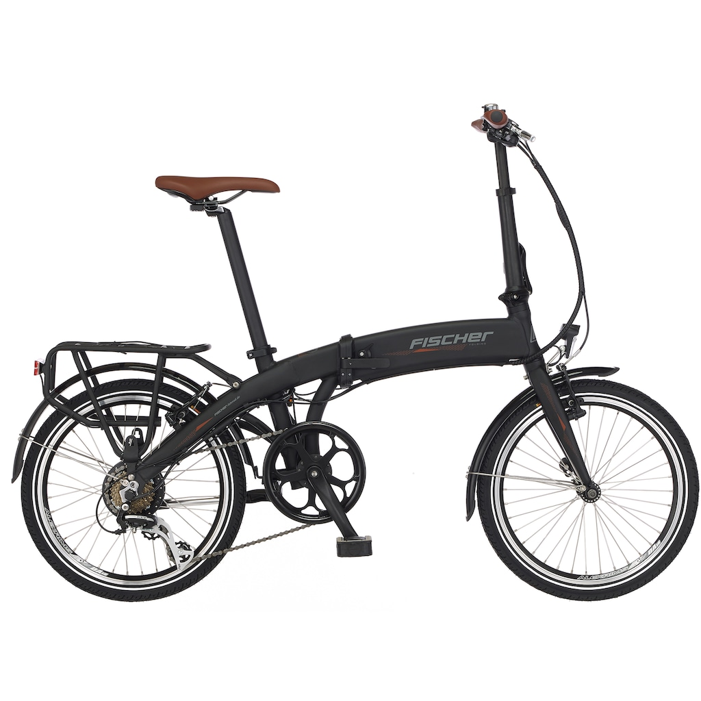 FISCHER Fahrräder E-Bike »Faltrad FR18«, 7 Gang, Shimano, ACERA SGS, Heckmotor 250 W