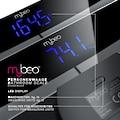 """MyBeo Digitale Körperwaage im Glas Design »Max. 180kg / 4x Mess-Sensoren / 3,1"""" LED-Display«"""