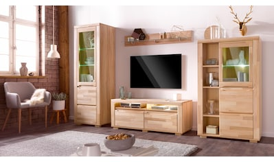Woltra Wohnwand »Denis«, (Set, 4 St.), teilmassives Holz kaufen