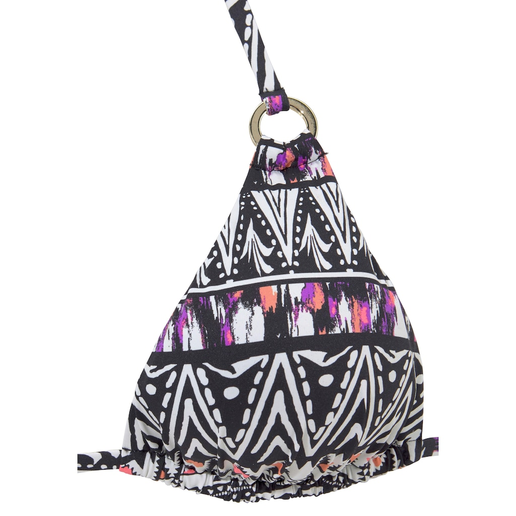 LASCANA Triangel-Bikini-Top »Belize«, mit goldfarbenen Zierringen