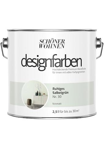 SCHÖNER WOHNEN-Kollektion Wandfarbe »Designfarben«, ruhiges Salbeigrün Nr. 30, feinmatt 2,5 l kaufen