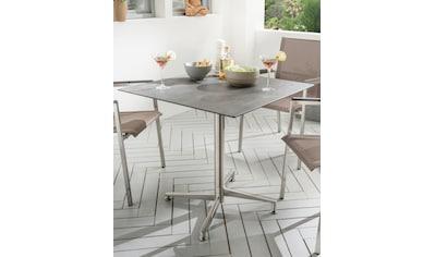 DESTINY Gartentisch »Loft«, Edelstahl/HPL, klappbar, 68x68 cm kaufen